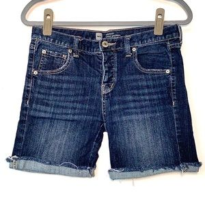 🎉3x$15🎉Mossimo Boyfriend Dark Wash Shorts Size 2